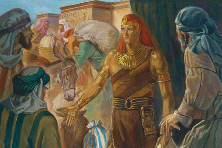 Joseph of egypt gives grain during famine